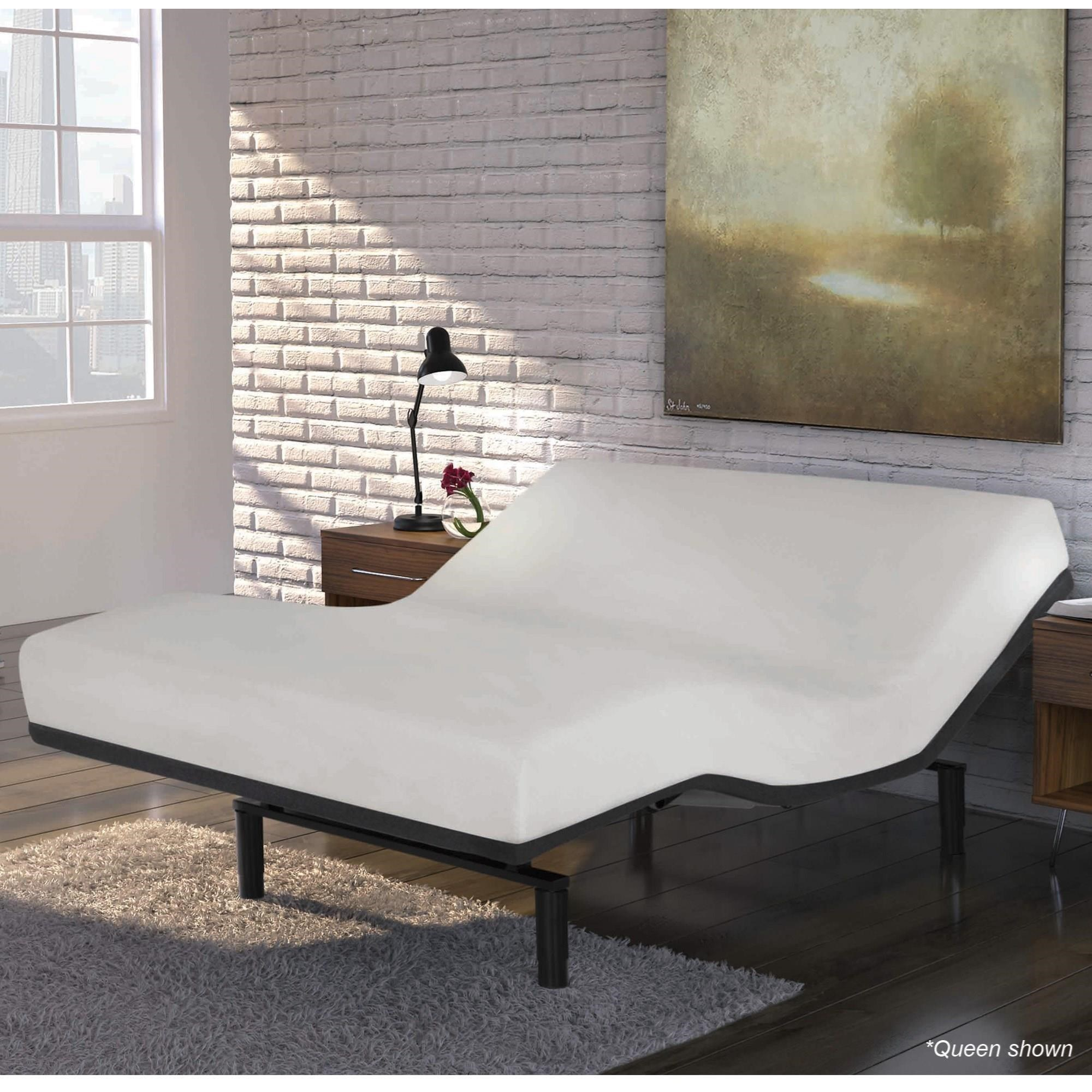 split queen simplicity 30 lowprofile adjustable bed base with full body massage and movement