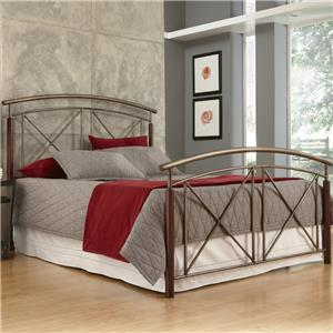 Fashion Bed Group Wood and Metal Beds Queen Belair Bed without Frame