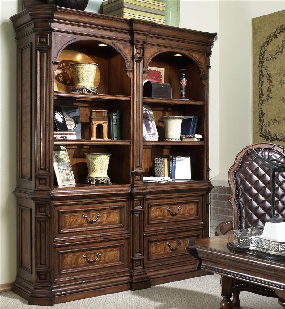 Traditional Bookcase With 6 Shelves And 4 Drawers By Fine