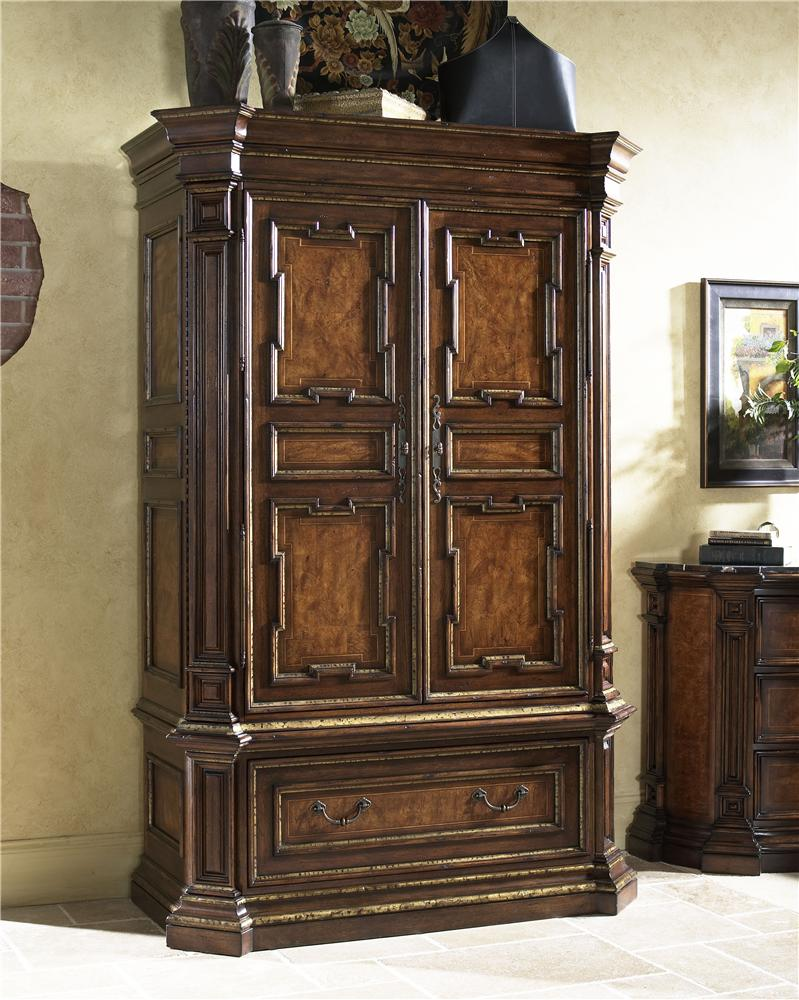 Beau Traditional Armoire Bar