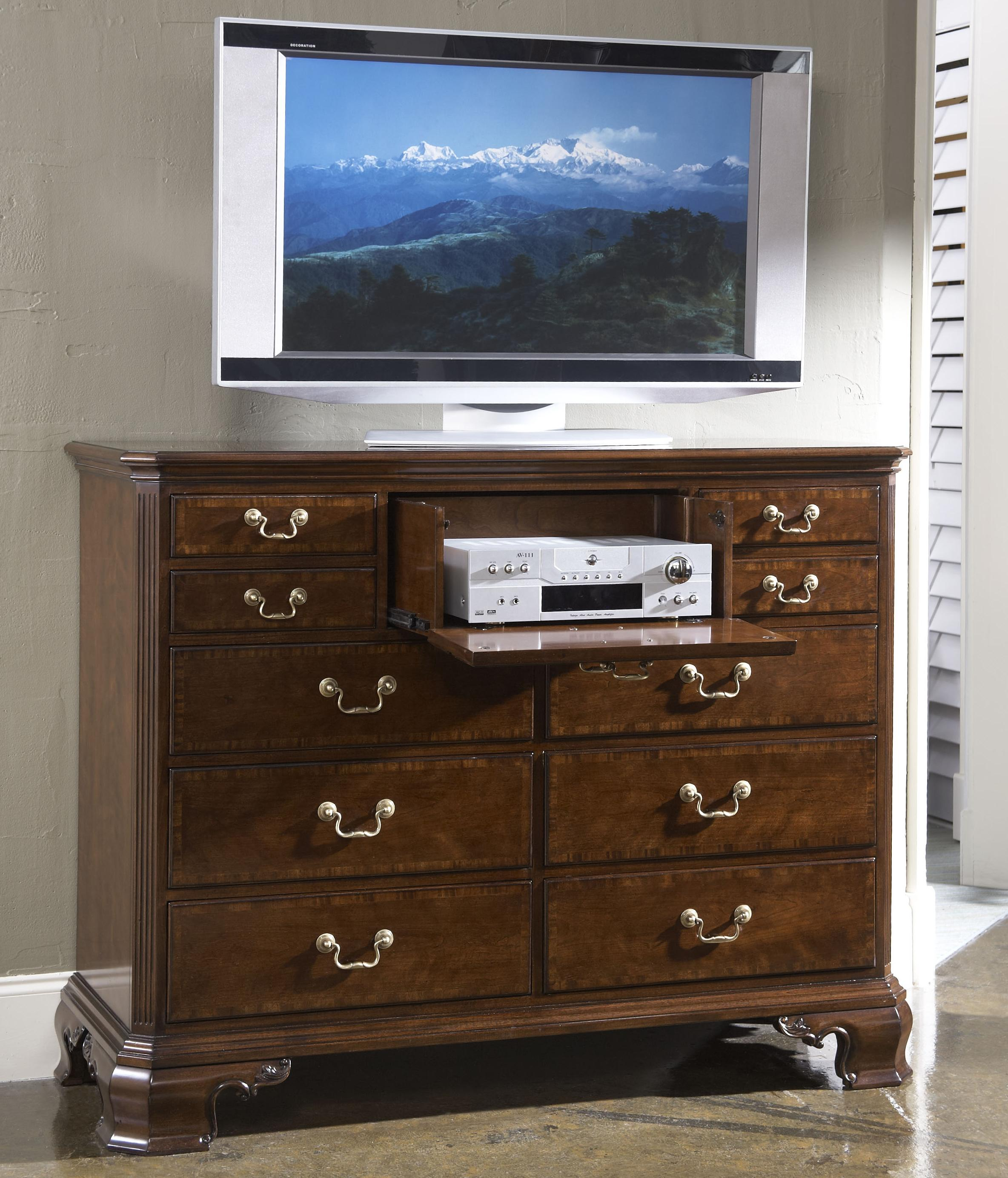 Portsmouth Entertainment Dressing Chest With Nine Drawers By Fine Furniture Design Wolf And