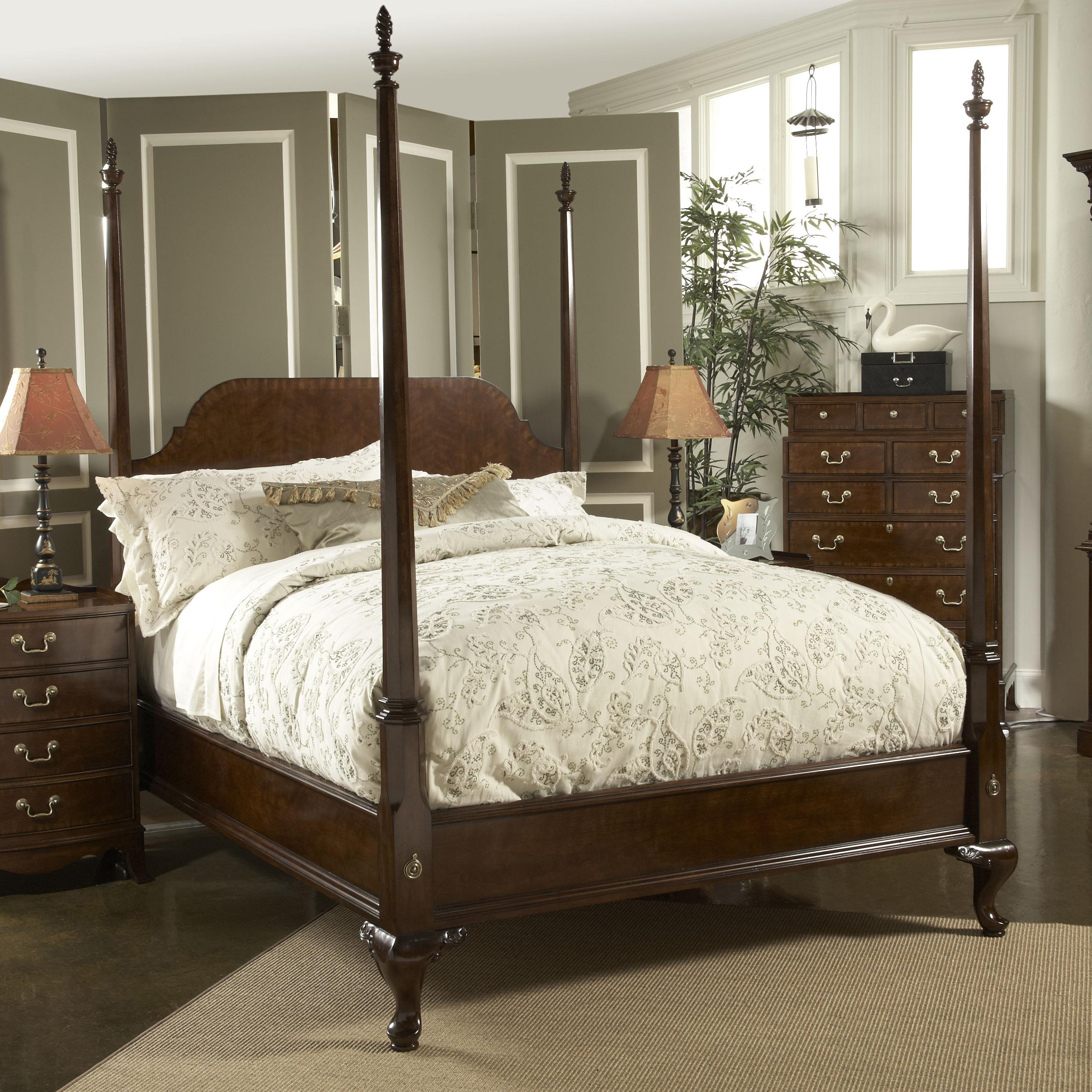 California King Size Bridgeport Pencil Poster Bed by Fine