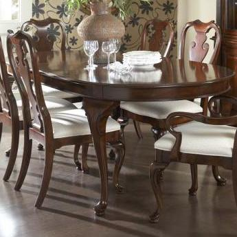 Watchthetrailerfo Traditional Oval Dining Table With Cabriole Legs Two Tabletop