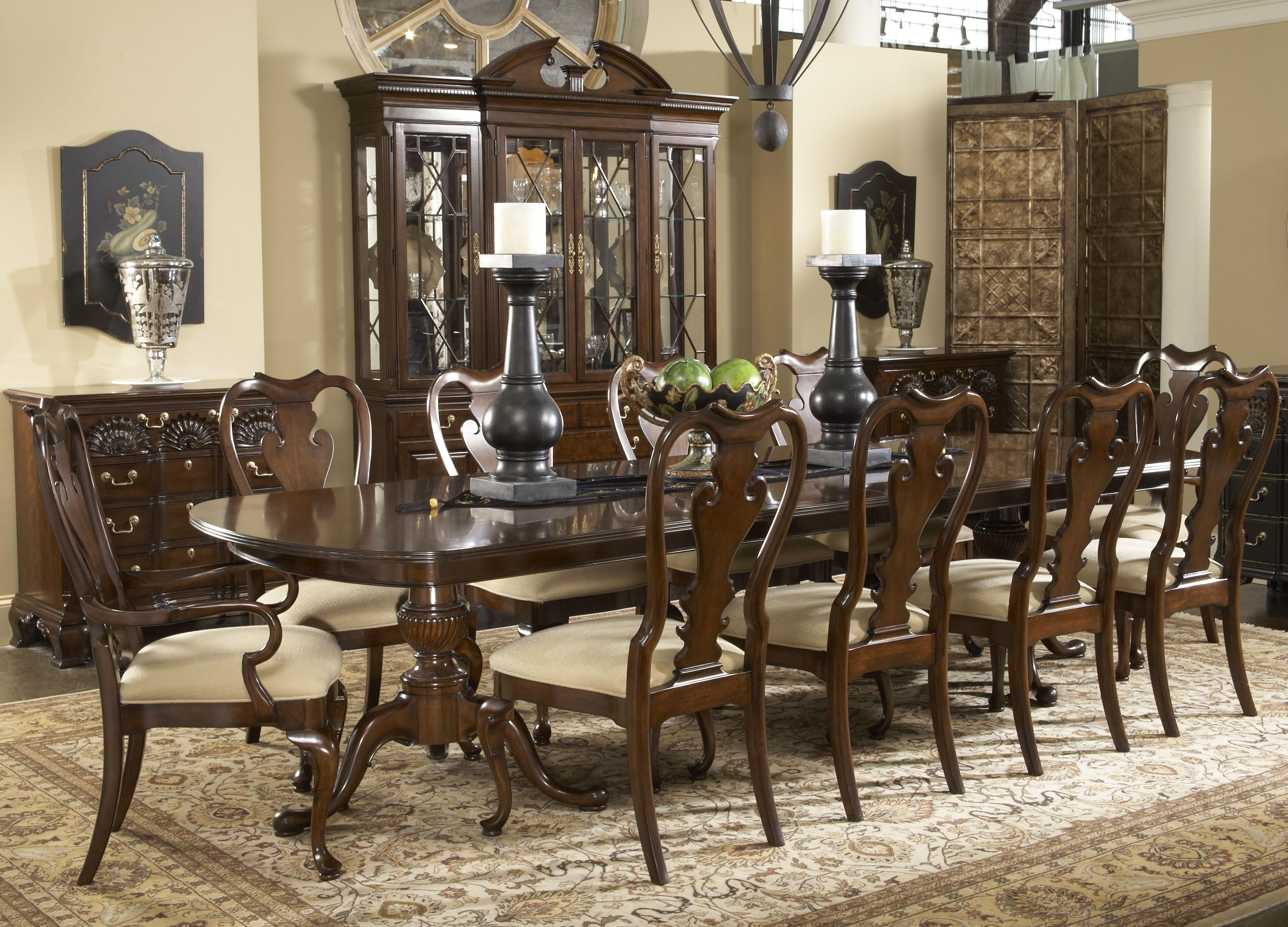 11 Piece Fredericksburg Dining Table & Brandywine Chairs Set by Fine ...