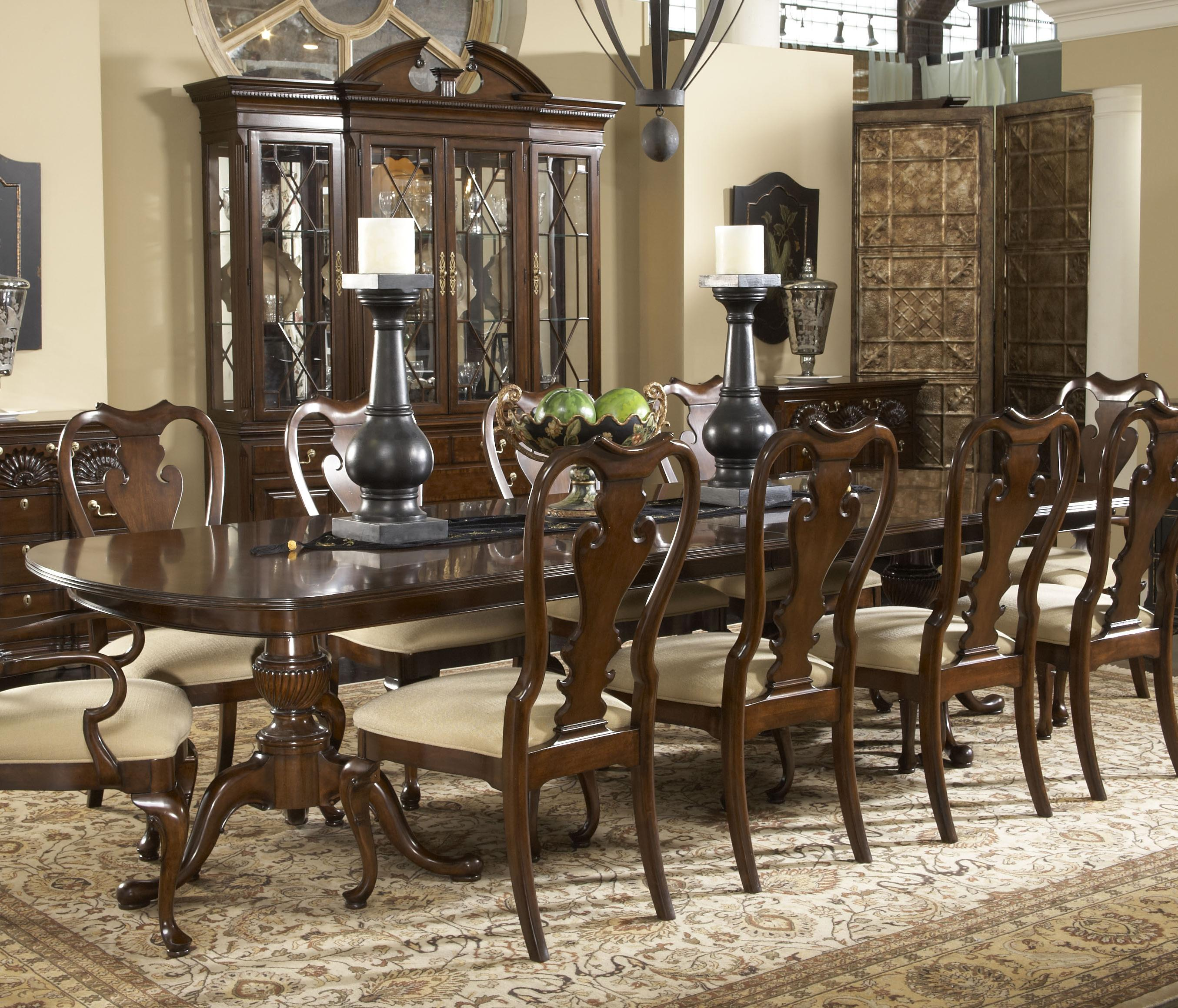 Fredericksburg Rectangular Double Pedestal Dining Table by Fine ...