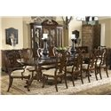 Belfort Signature Belmont 919 Brandywine Splat Back Side Chair - Shown with Brandywine Arm Chairs, Fredericksburg Dining Table, Franklin Godard Chest, and Andover Breakfront China