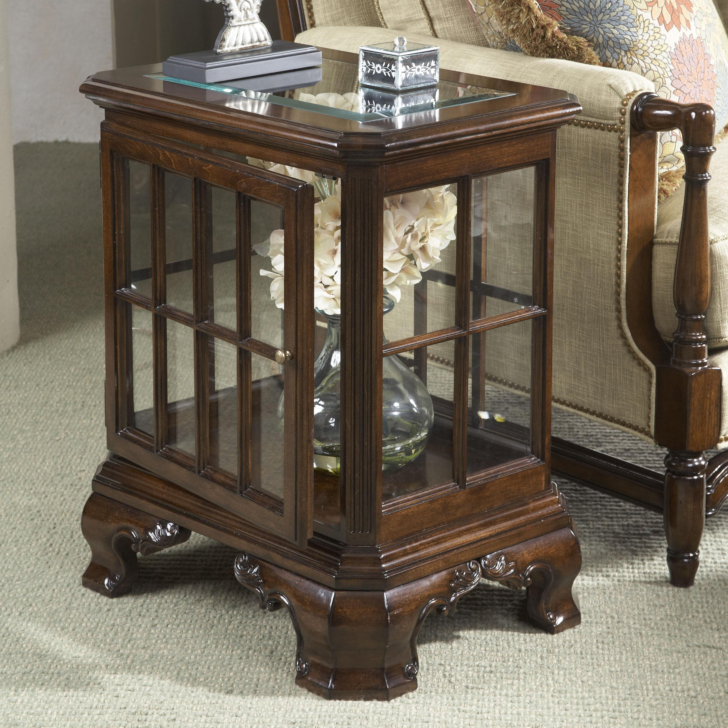 Superieur Manchester Curio Table With Glass Top And Door
