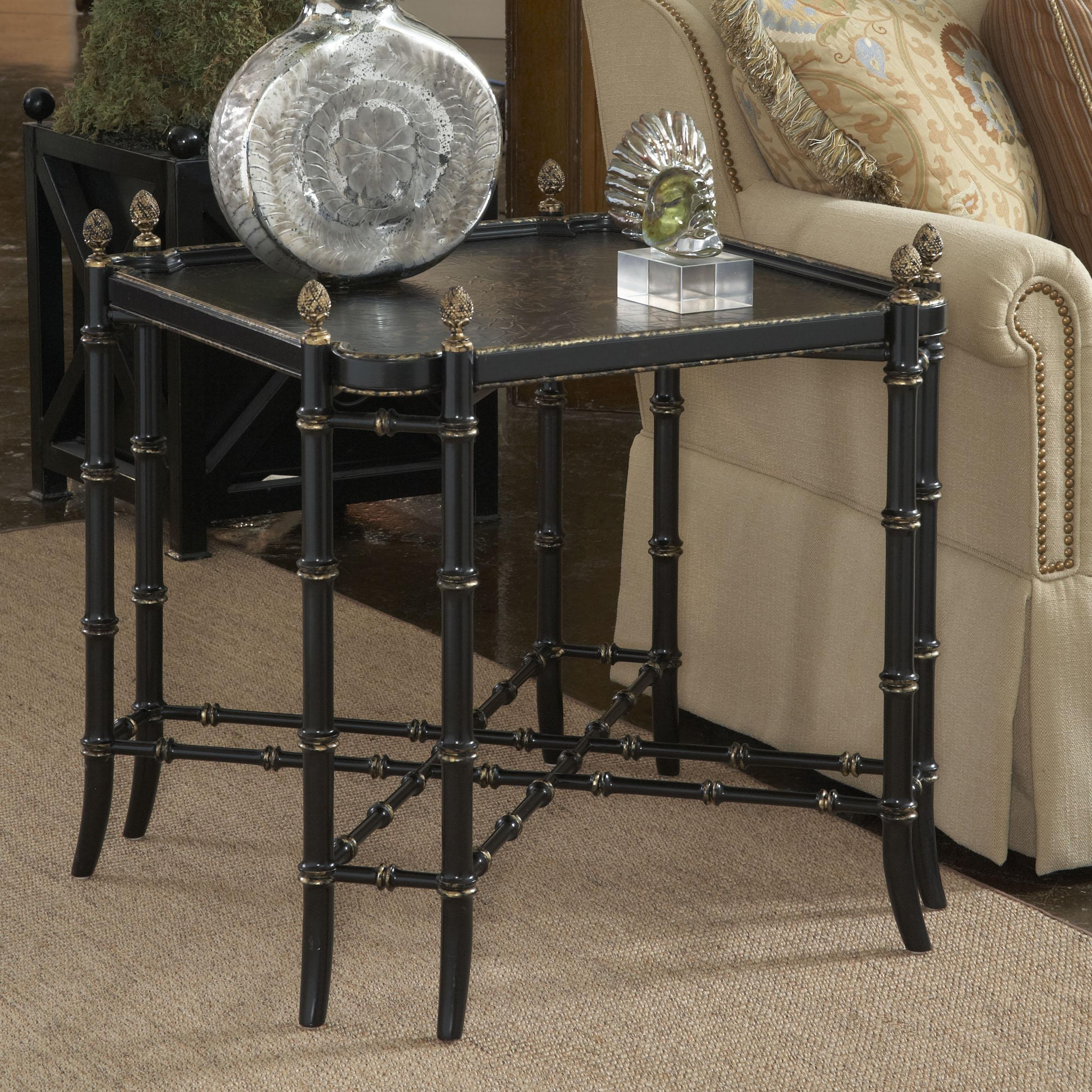 New London Chinoiserie Lamp Table With Black And Gold