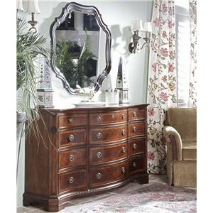 Belfort Signature Westview 819 Triple Dresser and Shaped Mirror