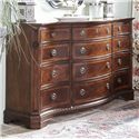 Belfort Signature Westview 819 Traditional Triple Dresser and Shaped Mirror
