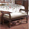 Belfort Signature Westview 819 Wooden Bedrooom Bench with Upholstered Seat