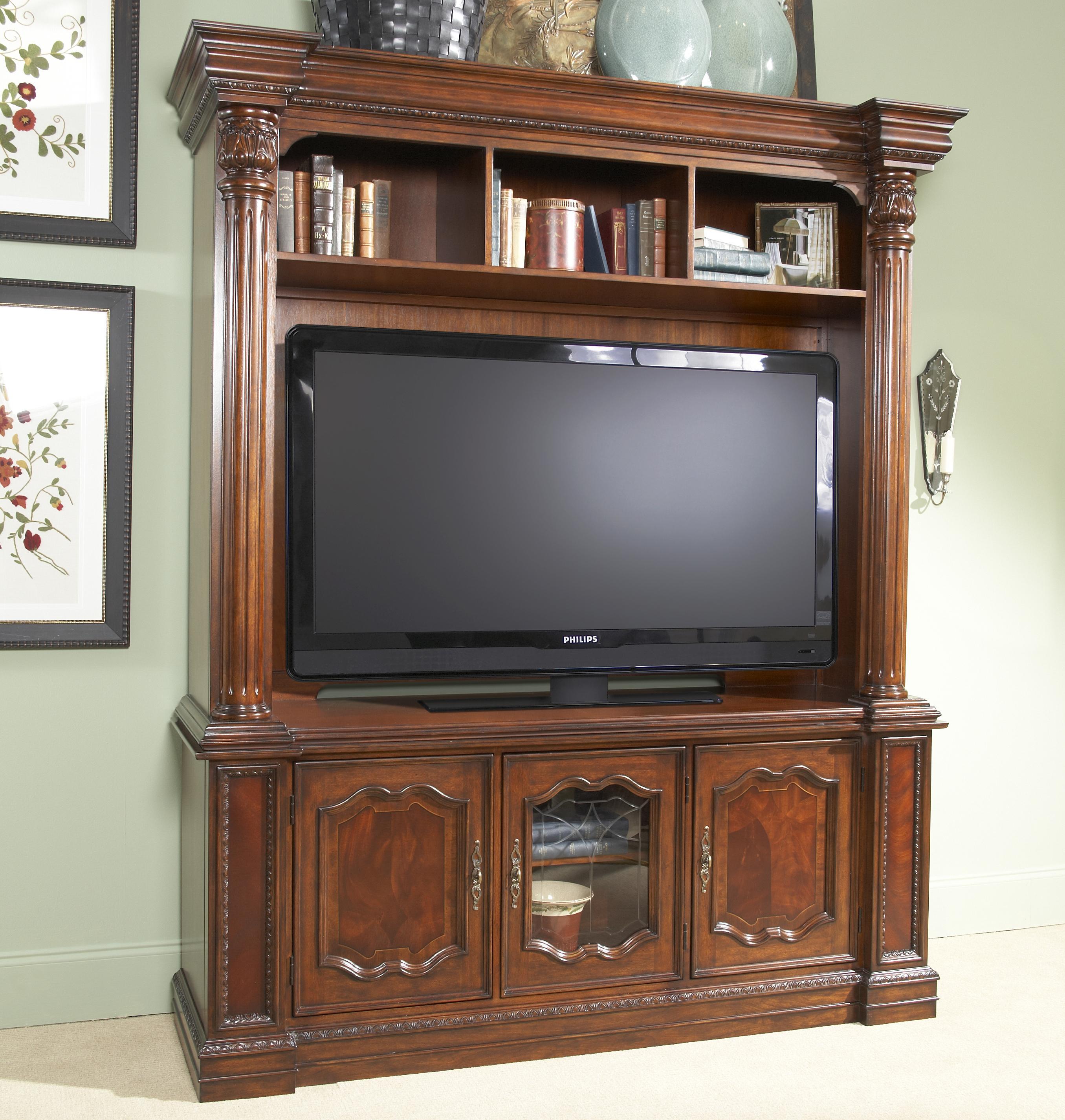 Entertainment Center Cabinet With Several Unique Storage Features