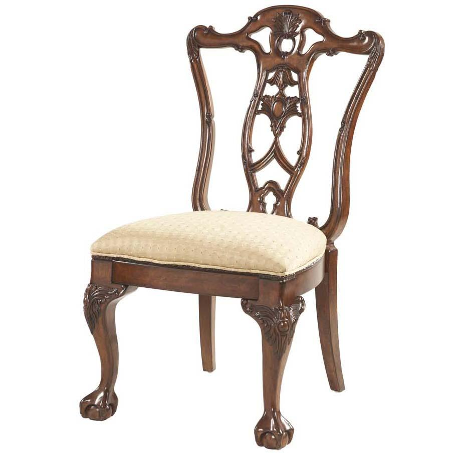 ball claw dining room side chair decorative wood back by