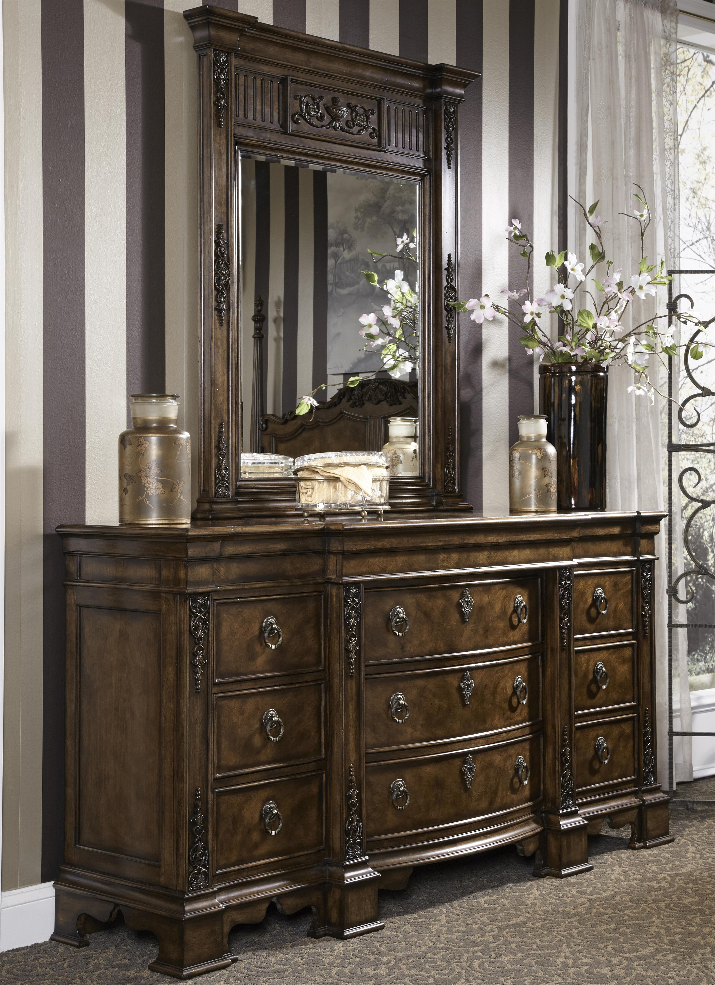 products columns twelve furniture dresser set drawer mirror mirrors fluted and with
