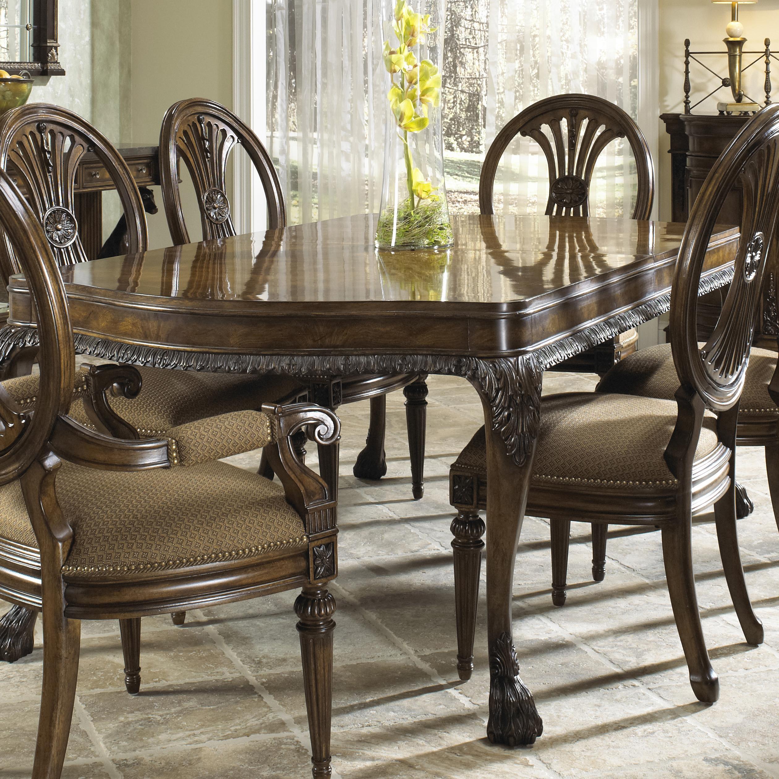 Bon Traditional Antique Rectangular Dining Table