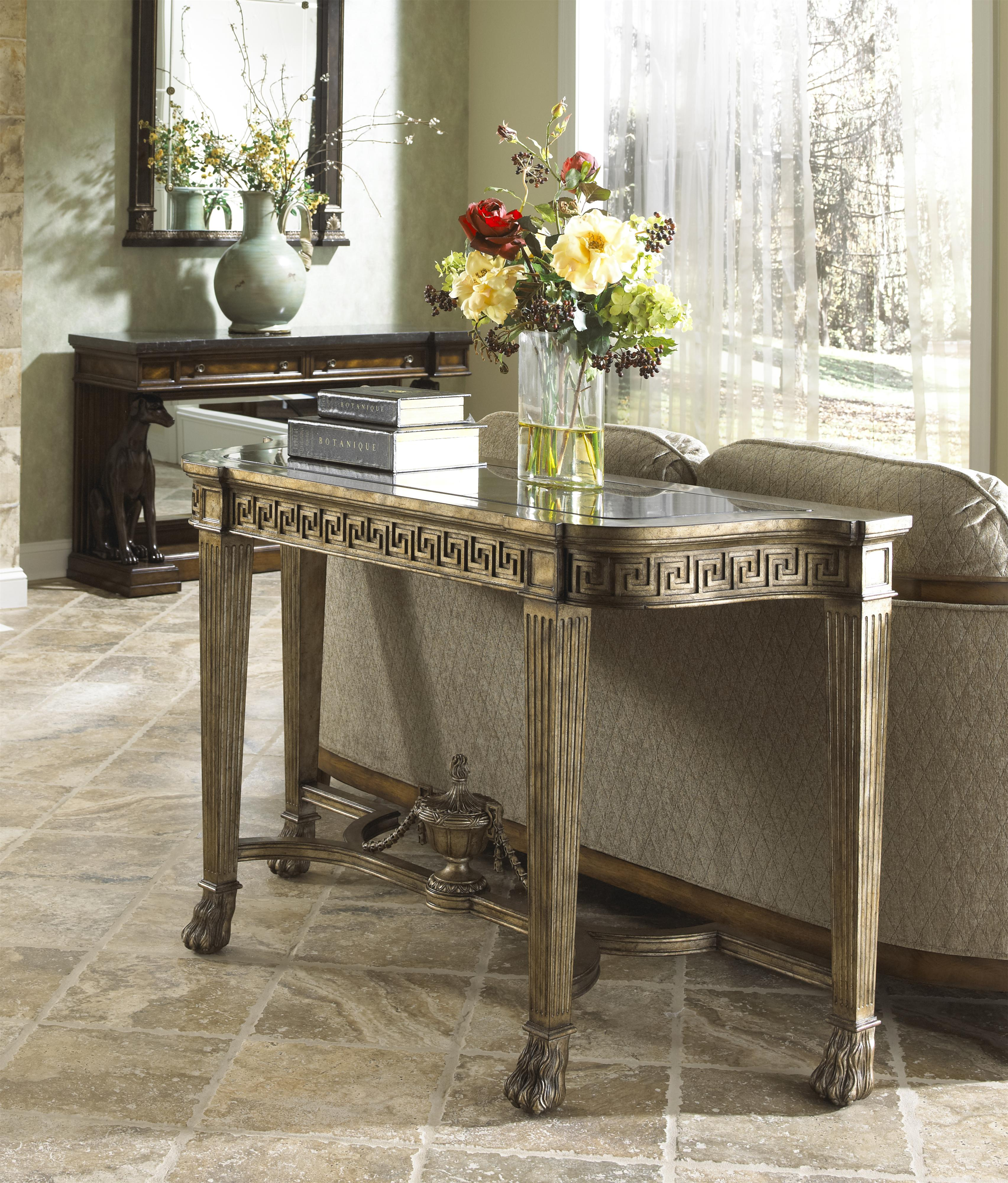 Grecian Style Marble Topped Sofa Table by Fine Furniture Design