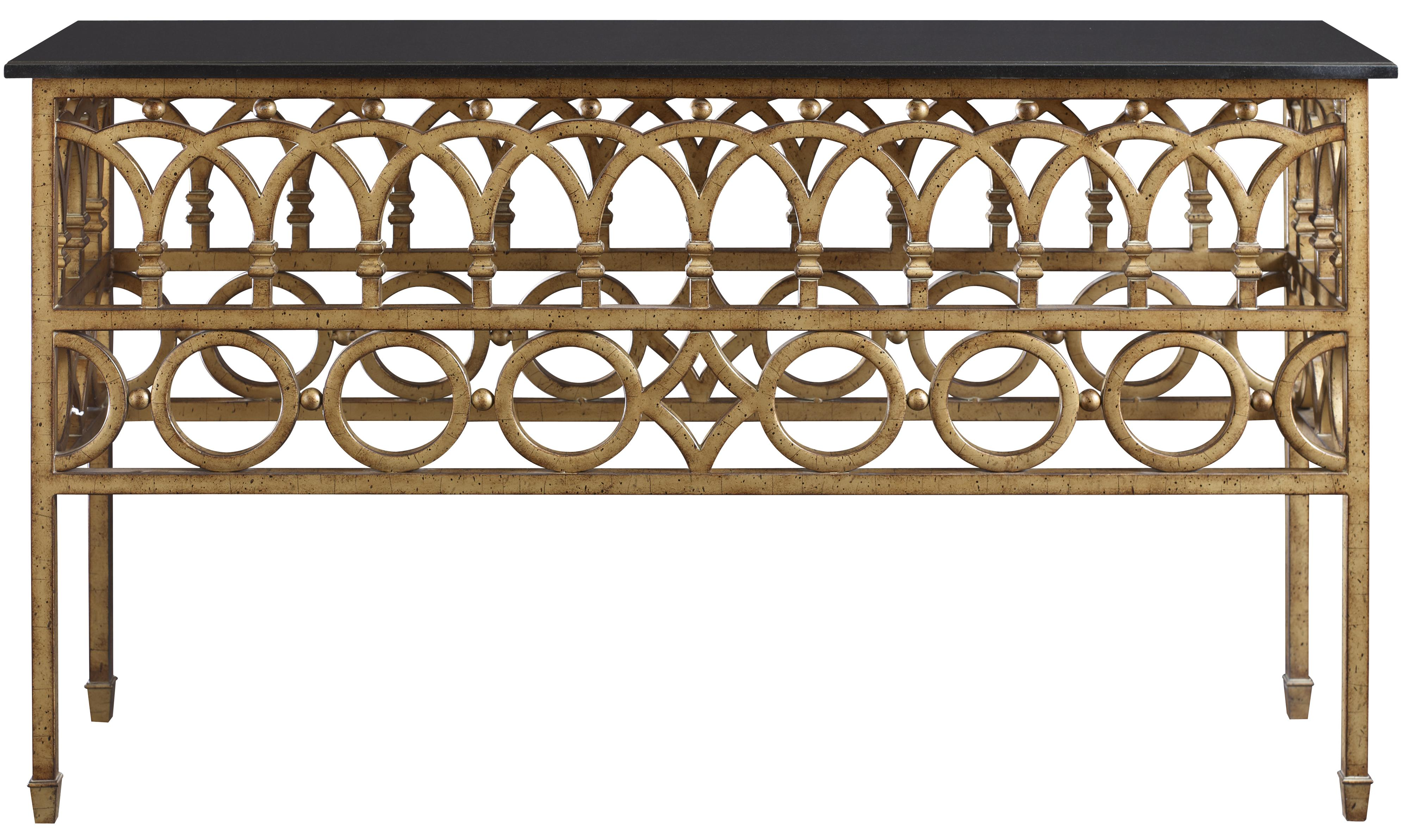 Iron console table w marble top by fine furniture design wolf iron console geotapseo Choice Image
