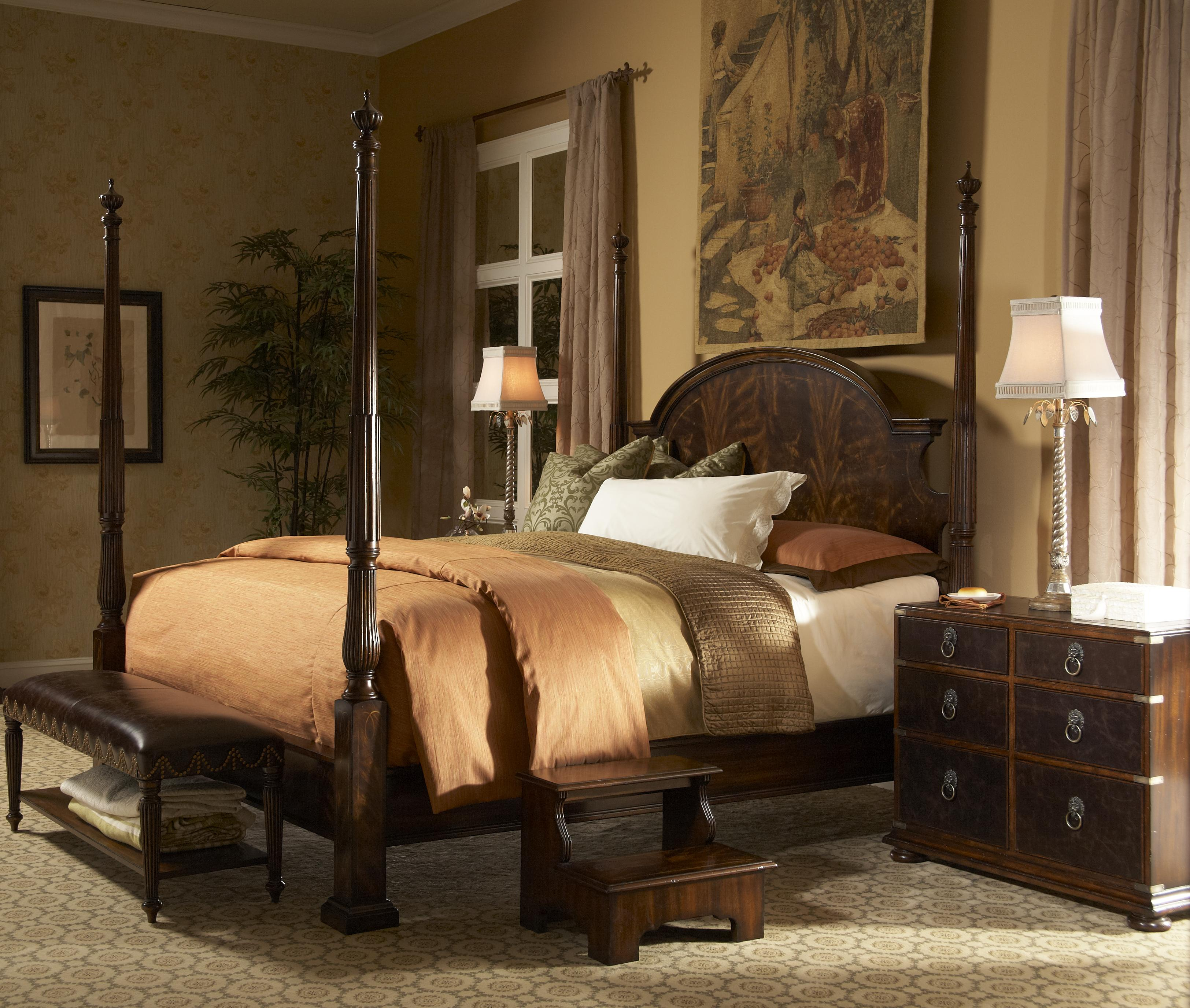 Bed Bench With Leather And Nailhead Trim By Fine Furniture Design . St James  ...