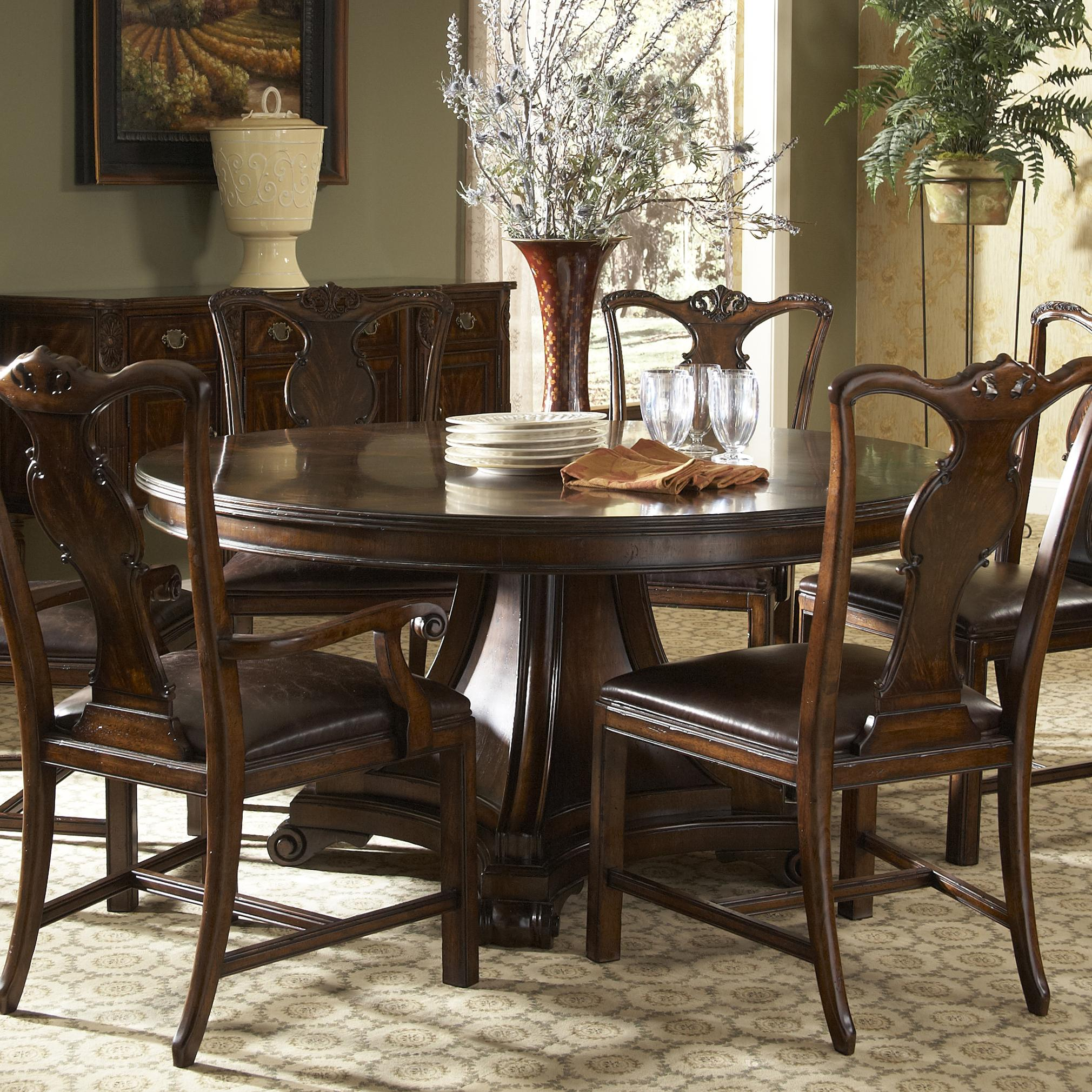Round Kitchen Tables: Traditional Round Dining Table With Inlay By Fine