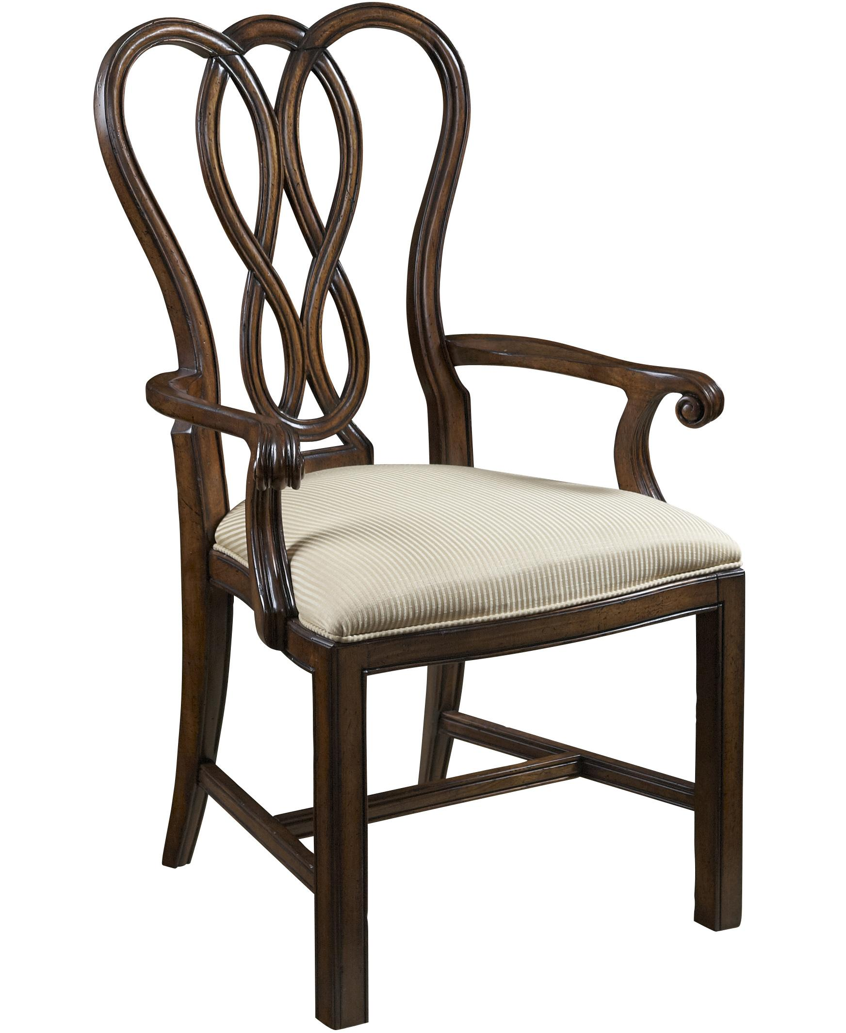 Dining Arm Chairs ~ Ribbon back dining arm chair by fine furniture design
