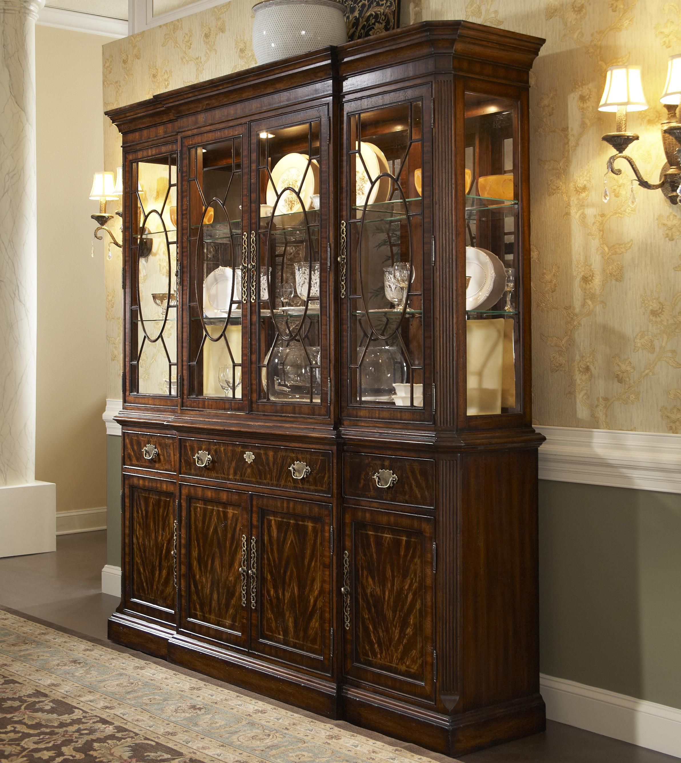 Breakfront china cabinet by fine furniture design wolf