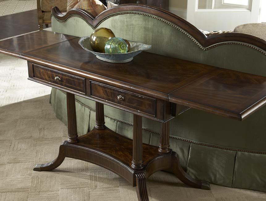 2 Drawer Drop Leaf Sofa Table By Fine Furniture Design Wolf And