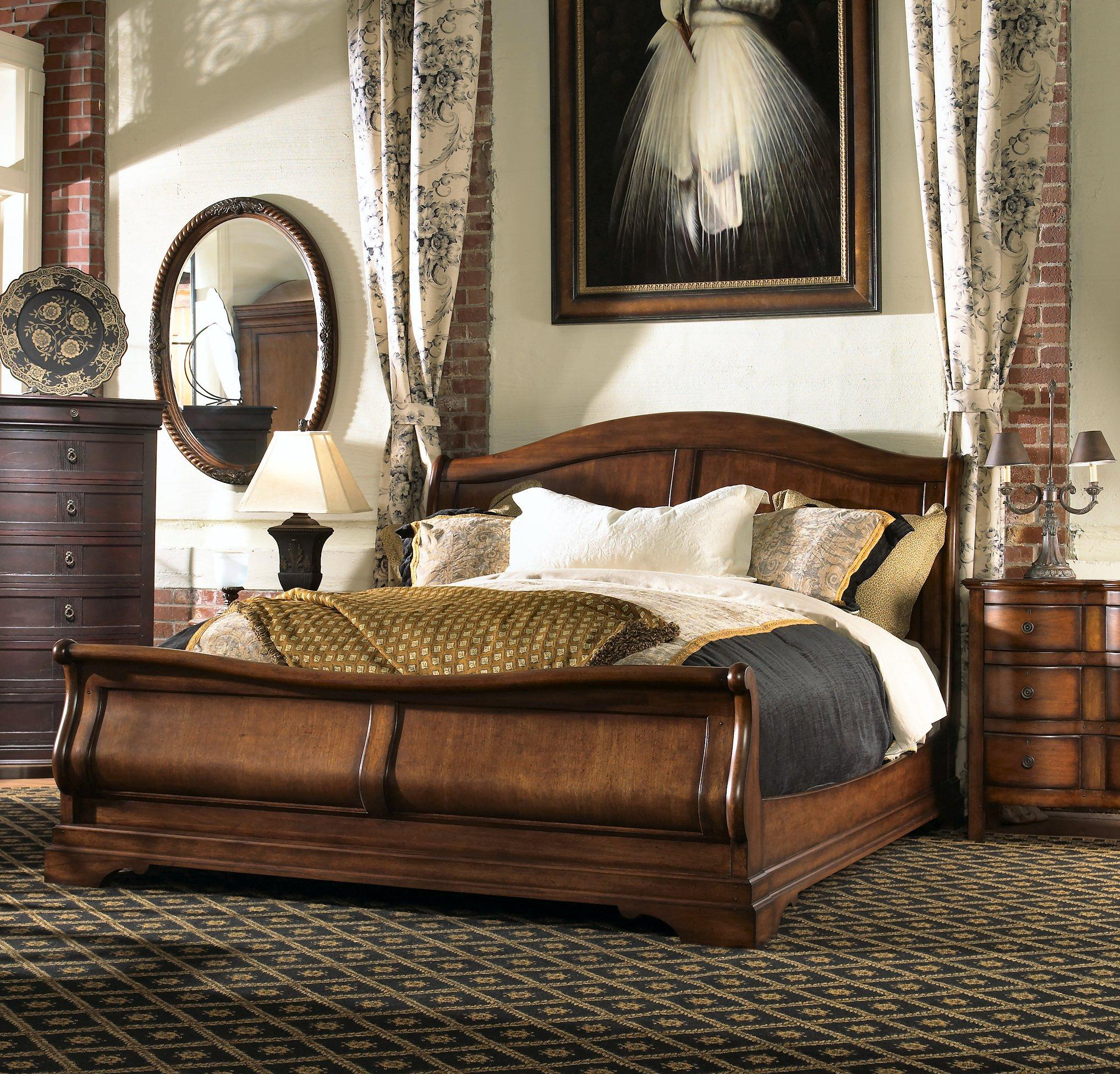 king sleigh bedroom sets king sleigh bed by furniture design wolf and 15763