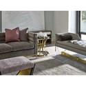 Fine Furniture Design Runaway Manhattan Channel Back Sofa with Brass Finished Legs