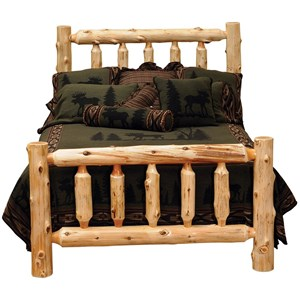 Queen Traditional Cedar Log Bed
