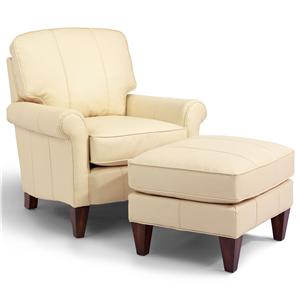 Flexsteel Accents Harvard Chair & Ottoman