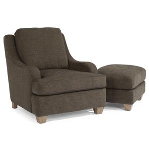 Flexsteel Accents Salem Chair & Ottoman Set