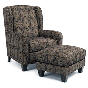 Flexsteel Accents Perth Chair and Ottoman
