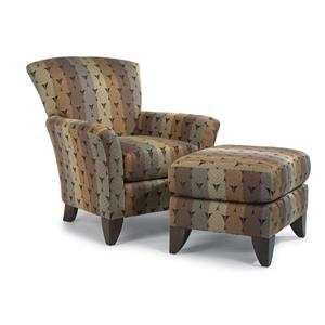 Flexsteel Accents Chair & Ottoman Set