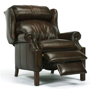 Flexsteel Accents PressBack Leather Recliner