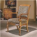 Flexsteel Accents Naples Upholstered Exposed Wood Chair