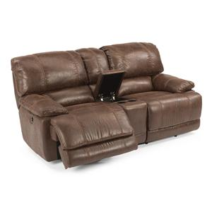 Flexsteel Latitudes - Belmont Power Glide Reclining Love Seat with Console
