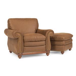 Flexsteel Belvedere Chair and Ottoman