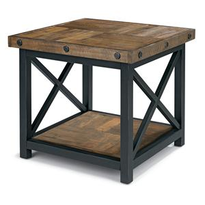 Flexsteel Carpenter Square End Table