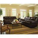 Flexsteel Latitudes - Crosstown Dual Reclining Love Seat with Console