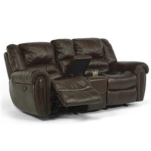 Flexsteel Latitudes - Crosstown Power Loveseat with Console