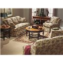 Flexsteel Danville Traditional Upholstered Chair - Shown with Sofa and Love Seat