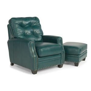 Flexsteel Latitudes - Flamenco Chair and Ottoman w/ Nailheads