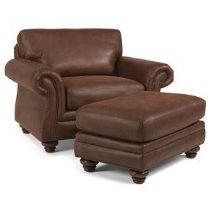 Flexsteel Gregory Chair & Ottoman Set