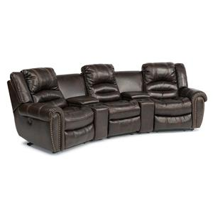 USUALLY SHIPS OUT WITHIN 5-7 BUSINESS DAYS. Latitudes - Hometown 5 Piece Reclining Home Theater Sectional