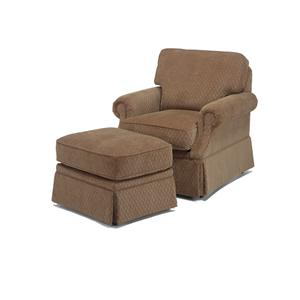 Flexsteel Jennings Chair and Ottoman