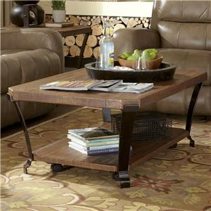 Flexsteel Kenwood Rectangular Cocktail Table w/ Casters
