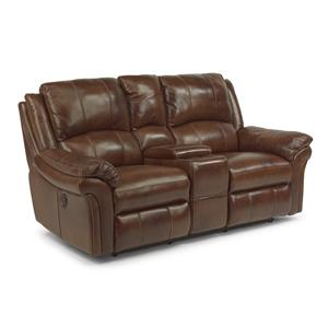 Flexsteel Latitudes - Dandridge Power Love Seat with Console