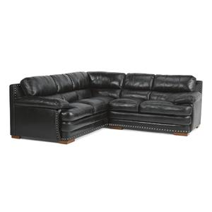 Flexsteel Latitudes - Dylan Sectional with Armless Chair & Nailheads