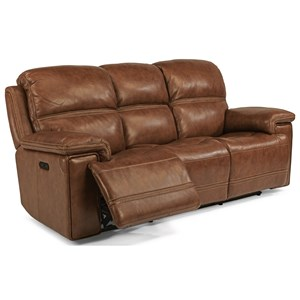 Power Reclining Sofa with Power Tilt Headrest and USB Port