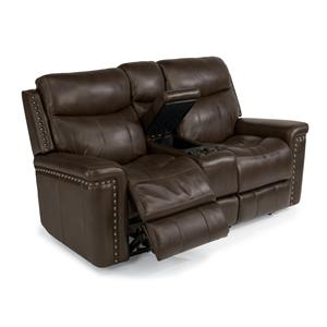 Flexsteel Latitudes-Grover Power Reclining Love Seat with Console